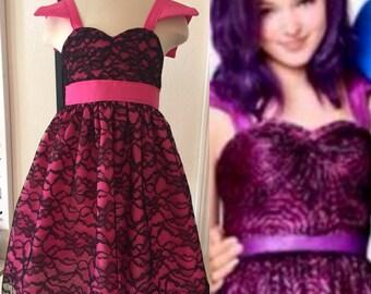 "Custom Boutique Descendants Inspired ""Mal"" Date Dress"