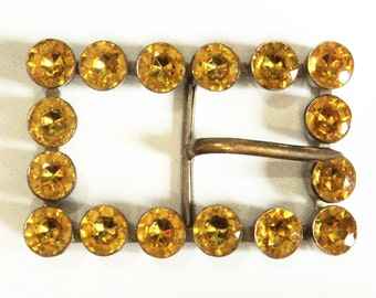 Golden-Amber Paste Buckle... c.1930s Original