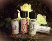 Natural Perfume SAMPLER SET, your choice of four vials of perfume