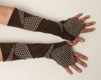 Patchwork  Arm Warmers - Pixie Armwarmers - Bohemian Accessories