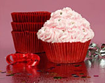 100 Standard Red Glassine Cupcake Baking Cups