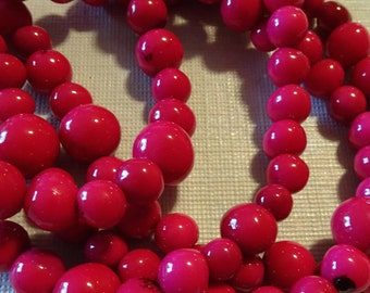 Hot Pink Baby! Acai, Best Quality, EcoBeads Tagua