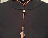 Deer Antler Leather Beaded Necklaces