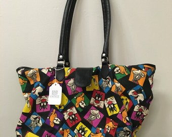 1990's Looney Tunes All Over Print Tote Bag
