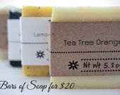 4 Bars of Soap - Your Choice - for 20 Dollars
