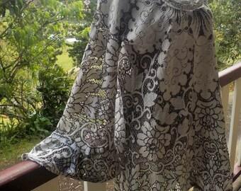 bohemian lace tunic, vintage hippy style, maternity,  free size