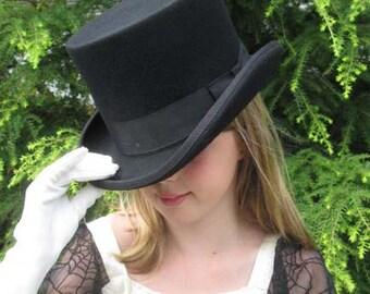 Wool Felt English Riding Hat or Topper - Black in Szs:Med, Lrg,  XL