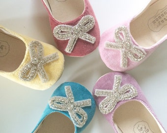 baby girl shoes toddler shoes girl shoes flower girl shoes infant shoes wedding shoes slippers velvet