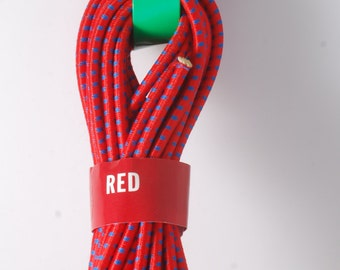"Raw Bulk Red  Bungee Cord 18 Ft For DIY Projects Etc 1/8"" Thickness New On Card"