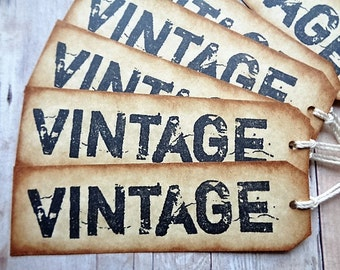 Vintage Gift Tags Merchandise Tag Weddings Anniversary Christmas Birthday Product Hang Tag