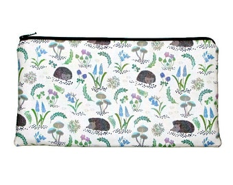 Bluebell Wood Hedgehogs Pencil Case Long Zipper Pouch Clutch Purse
