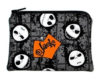 Nightmare Before Christmas JACK Skellington Coin Purse Small Zipper Pouch