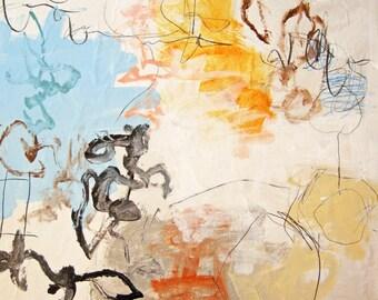 """Blue Sky 2, (4324) 24""""x24"""" Original Canvas"""