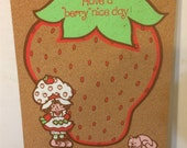 Vintage Strawberry Shortcake Cork Board