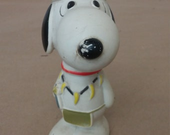 Vintage Snoopy Squeaky Toy in Indian Outfit