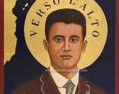 Blessed Pier Giorgio Frassati Icon Catholic Print  Ready to Frame Print 8x10, 11x14, 16x20,  24x36