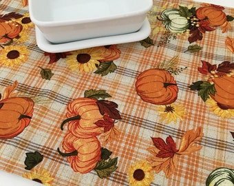 Fall Table Runner | Fall | Thanks Giving | Pumpkin | Autumn Table Runner | Topper Linens | Thanksgiving Table Runner