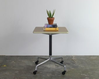 Eames Laminate Side Table for Herman Miller with Rolling Caster Base