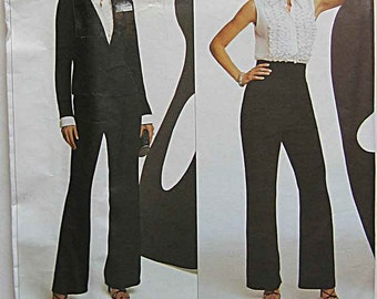 Oscar de la Renta Misses' Jacket, Ruffle Blouse and Pants, Designer Vogue 2766 Sewing Pattern UNCUT Sizes 18-20-22