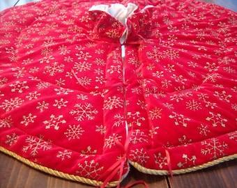 Christmas tree skirt, reversible