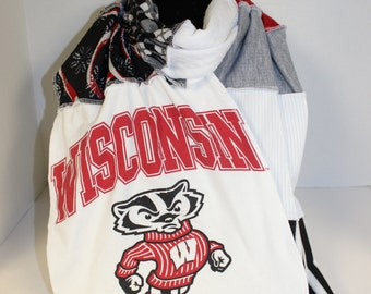 Wisconsin Badger T-Shirt Scarf