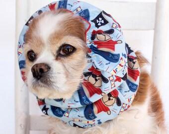 Pups on Boats Waterproof Snood, Cavalier King Charles or Cocker Snood, Girl or Boy Dog Snood
