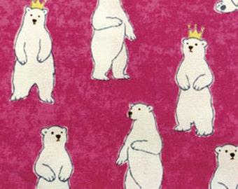 "White Bear Prince  -  Japanese Kawaii cotton 50cm or 19"" length"