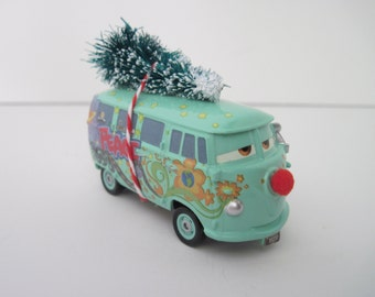 Disney Cars - FILLMORE - 1960 VW Bus - CHRISTMAS Ornament, Decoration - Red Nose, Christmas Tree