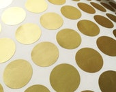 Matt gold foil stickers - round gold foil labels -  2.5cm envelope seals -1 inch wedding seals - gift wrap - 70 gold foil stickers