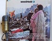 "Woodstock Vinyl Record Album 1960s Jimi Hendrix Jefferson Airplane CSNY ""Woodstock"" (Original 1970 Cotillion 3LP)"