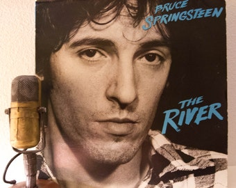 """ON SALE Bruce Springsteen Record LP """"The River"""" (Loaded Original 1980 Cbs Records with photo inner sleeves and lyric insert, """"Hungry Heart"""")"""