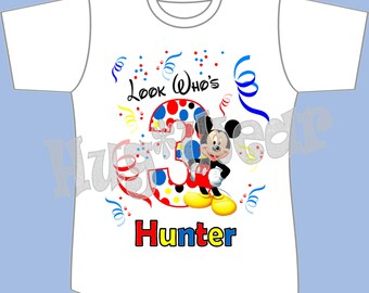 Mickey Mouse Birthday Shirt - Mickey Mouse and Friends (any age)