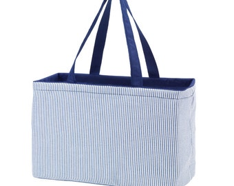 Rectangle Ultimate Tote - Monogram Personalized Beach Tote, Pool Tote, Carry All Tote