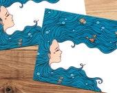 Envelope Pack - Mermaid Blues