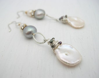 Long Pearl Earrings, Ocean Treasure