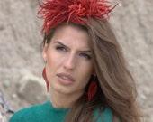 Felt exclusive hair accessory Crown hat jewelry band head bride accessory unique Regina Doseth handmade fascinator race stylish woman