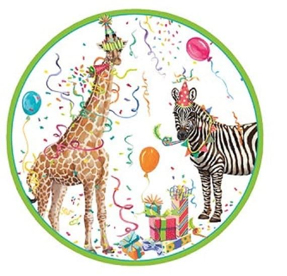 12 Vintage Style PARTY ANIMAL Paper Plates Parisian Vintage Style Trendy Chic Giraffe Zebra Animals Birthday Celebration Safari Zoo Jungle  sc 1 st  Catch My Party & 12 Vintage Style PARTY ANIMAL Paper Plates Parisian Vintage Style ...