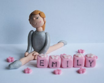 Handmade Edible Gymnastic, gymnast, dance, Cake Topper Decoration