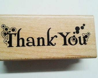 New Thanks You  Rubber Stamp, Thank You Mounted Rubber Stamps, Thank You Stamps