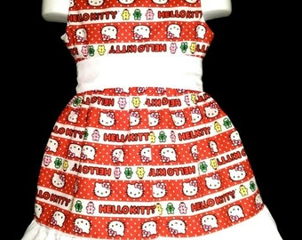 Sleeveless Summer Dress Hello Kitty Boutique 12/18M 24M/2T 3T/4T 5/6 Pageant New