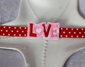 Adorable Valentine's Day Headband for Baby or Toddler- Pink and Red Hearts Love Headband