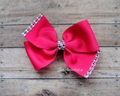 Simple Solid Rhinestone Bow....You pick color