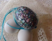 XL Hanging Magick Marbled Duck Egg For Your Holiday Tree