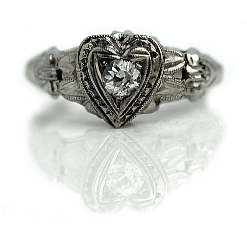 antique engagement ring 15ctw mine cut antique promise ring
