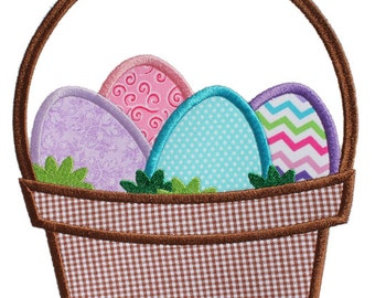 Easter Basket - Digital Appliqué Embroidery Design (109)