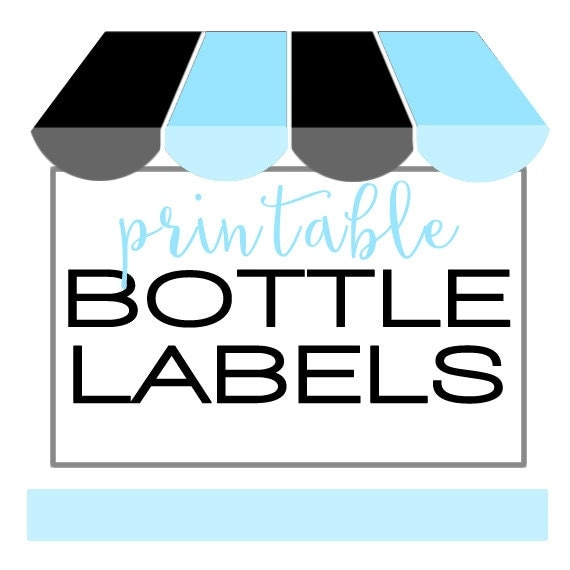 Printable Water Bottle Labels Print At Home By Bushel Peck Paper Catch My Party