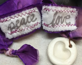 Peace + Love Mala - Comes with Lovingkindness Meditation Card