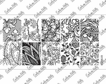 Nail stamping plate - EDMXL03