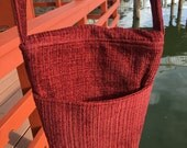 Rebecca 1600W  Chenille Upholstery Purse With Long Strap