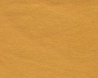 Mustard Yellow 4 Way Stretch 8oz Rayon Spandex Jersey Knit Fabric, 1 Yard